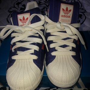 Rare pinstriped shell toes